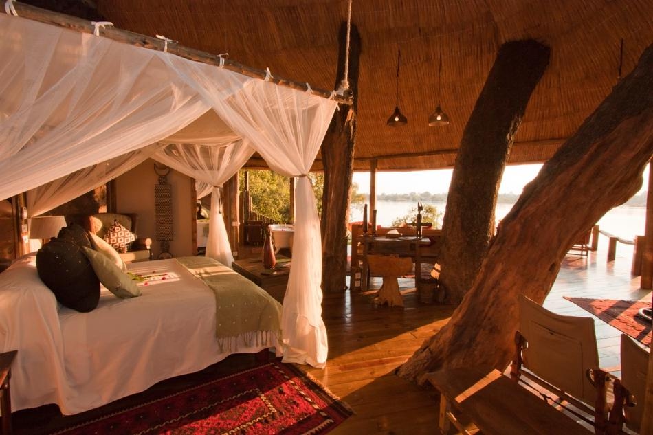 Tongabezi and sindabezi island luxury african photo safaris classic africa - Tree house bathroom ...