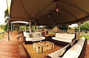 Sitting Area at Anabezi Camp - Luxury Zambia Safaris