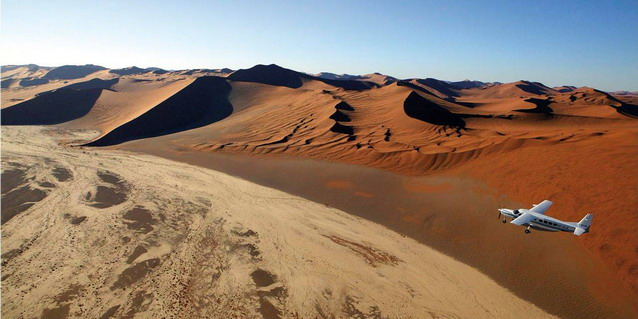 Flying over the Namib Desert - Safari Options | Luxury African Safari Vacations | Classic Africa