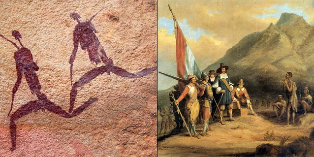 San rockart and Van Riebeeck - Brief History | Southern African Safaris | Classic Africa
