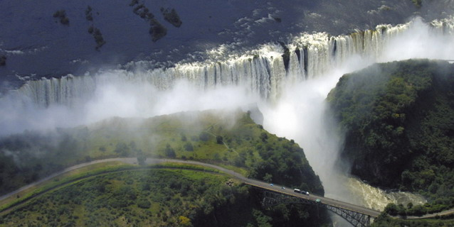 Aerial view of Victoria Falls - Dramatic Natural Wonders | Southern African Safaris | Classic Africa